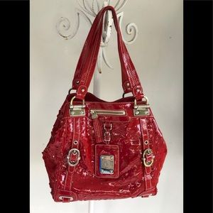 RAFE Red Patton Perforated Large Bag